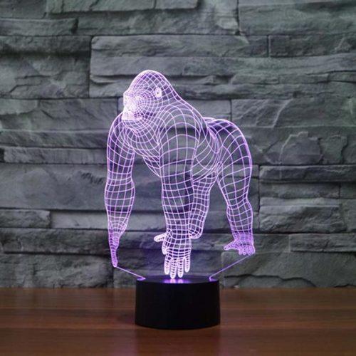 gorilla 3d led lamp