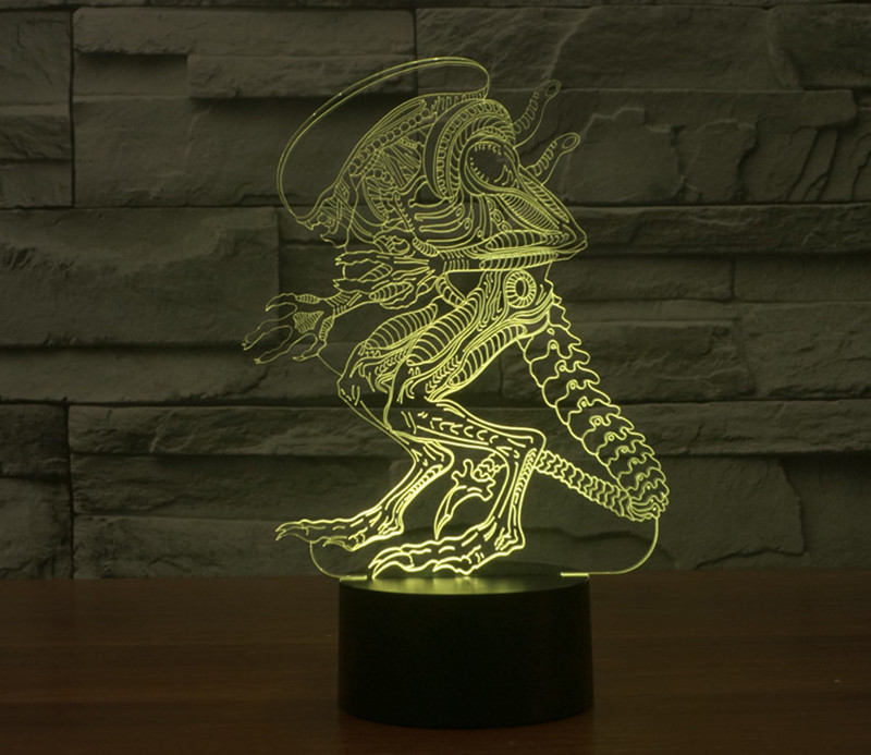 Alien Versus Predator 3d Led Lamp