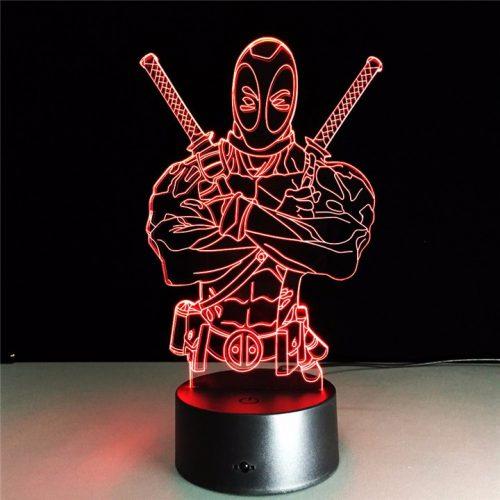 Anti-Hero Deadpool 3D LED Lamp 7