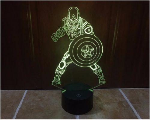 Captain America 3D LED Lamp 2