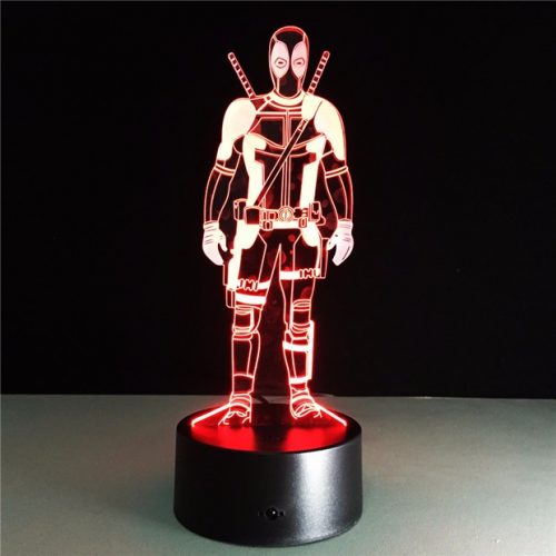 Deadpool 3D LED Lamp 1
