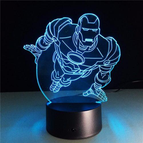 Marvel Comic Super Hero Ironman 3D LED Lamp 4