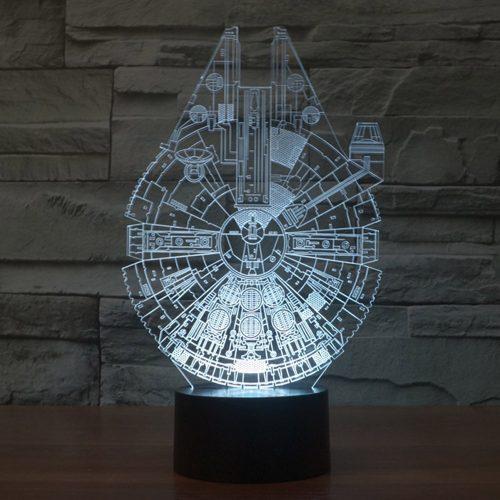 Millennium Falcon 3D LED Lamp 1