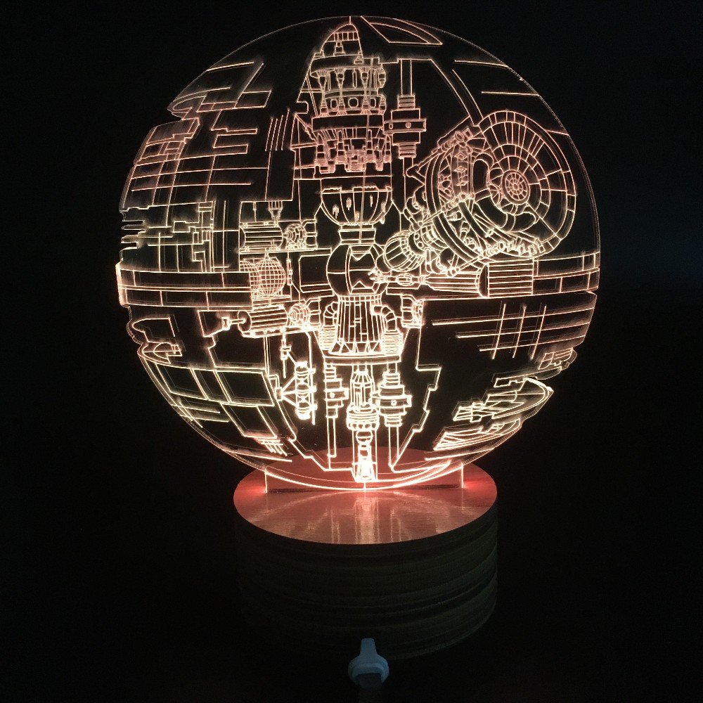 Rouge One Death Star 3d Led Lamp