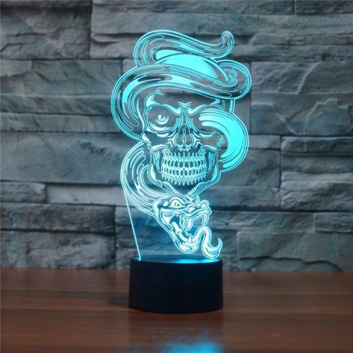 Snake & Skull 3D LED Lamp 1