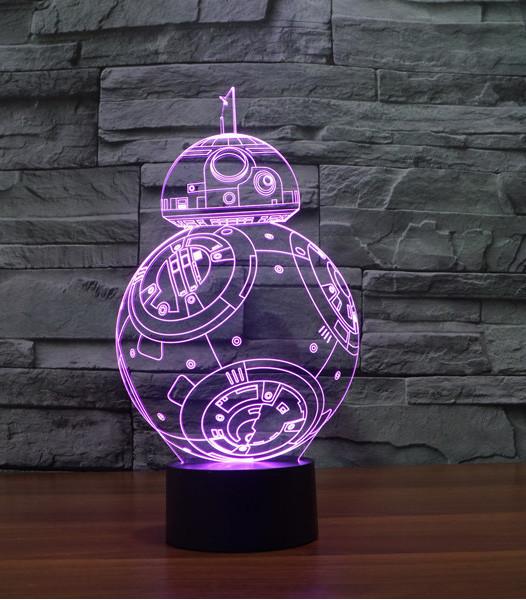 Star Wars Bb 8 3d Led Lamp
