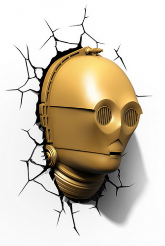 Star Wars C3PO 3D LED Wall Lamp 3