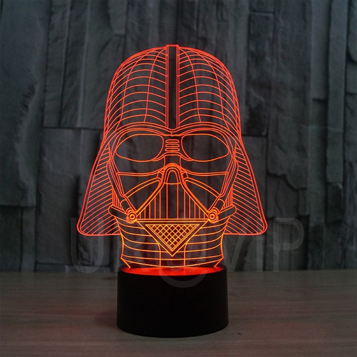 Star Wars Darth Vader 3d Led Lamp