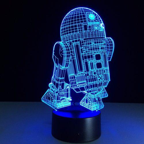 Star Wars R2D2 3D LED Lamp 7