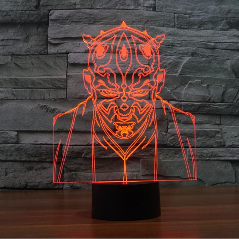 Star Wars Sith 3d Led Lamp