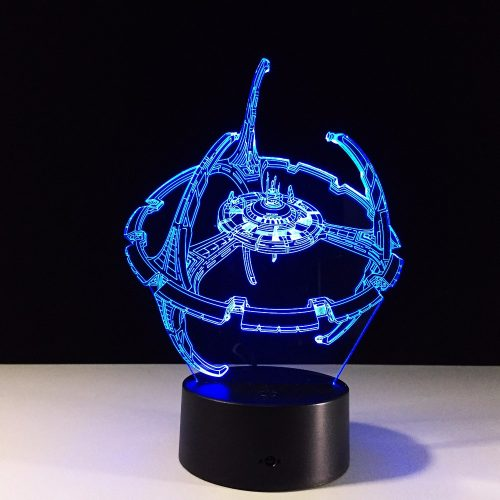 Star Wars Space Station 3D LED Lamp 1