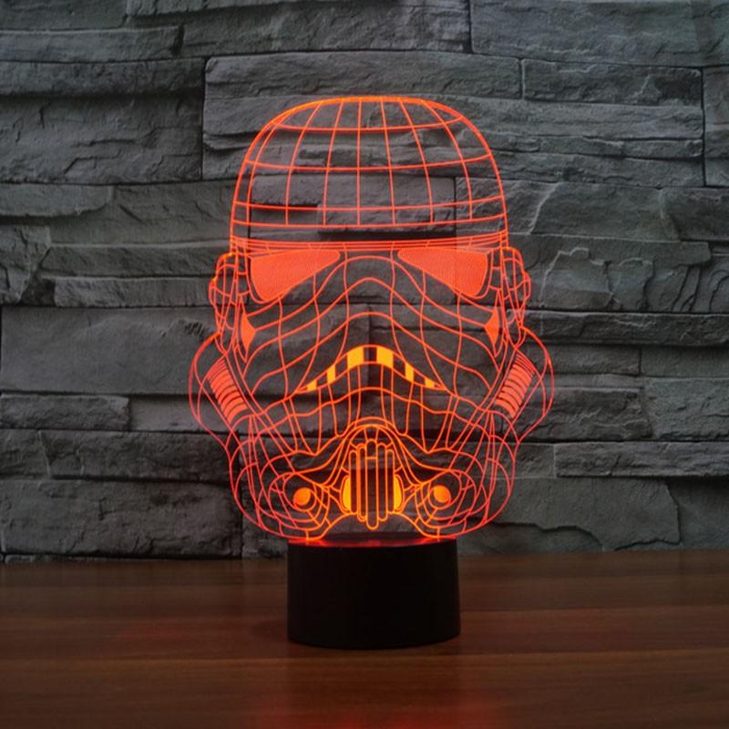 Star Wars Stormtrooper 3d Led Lamp