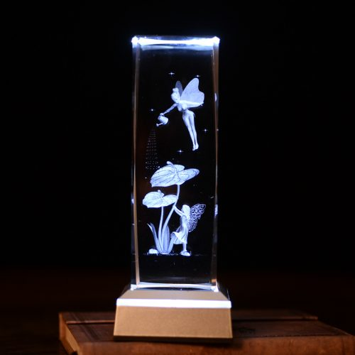 3D Crystal Angel LED Lamp 5
