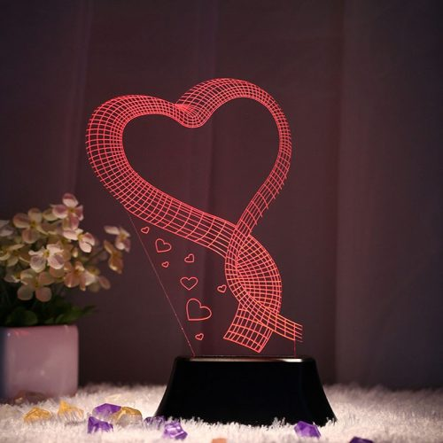 3d LED Music Love Heart Lamp 1