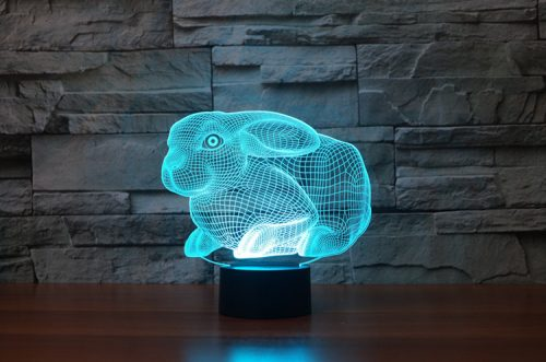 Cute 3D Bunny Rabbit LED Lamp 5