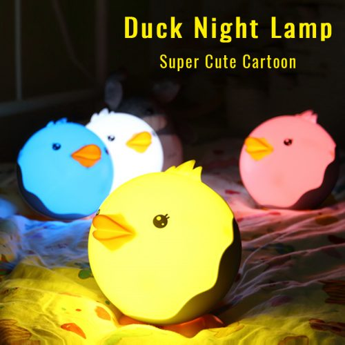 Luminaria LED Baby or Kids Cartoon Duck Night Table Lamp 1