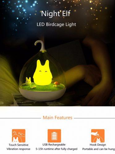 Night Elf LED Birdcage Light 1