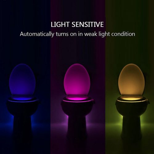 Toilet Sensor 8 Colour LED Lamp 1