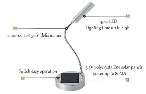 Solar Rechargable desk lamp 5