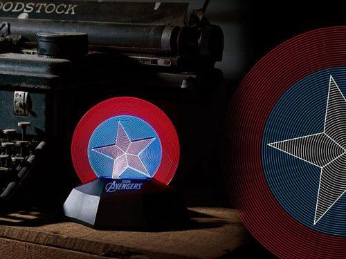 Captain America 3D line lamp 1