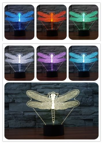 Dragonfly 3d led lamp 1