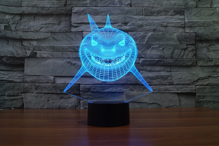 Smiley Shark 3D LED Lamp