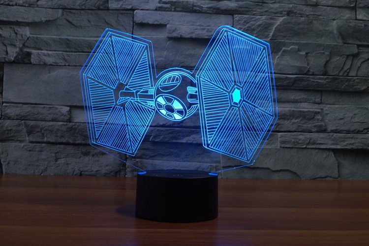 Star Wars Tie Fighter 3d Led Lamp