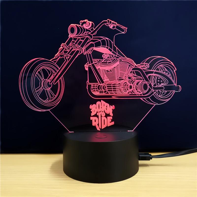Harley Davidson Born to Ride 3D LED Lamp