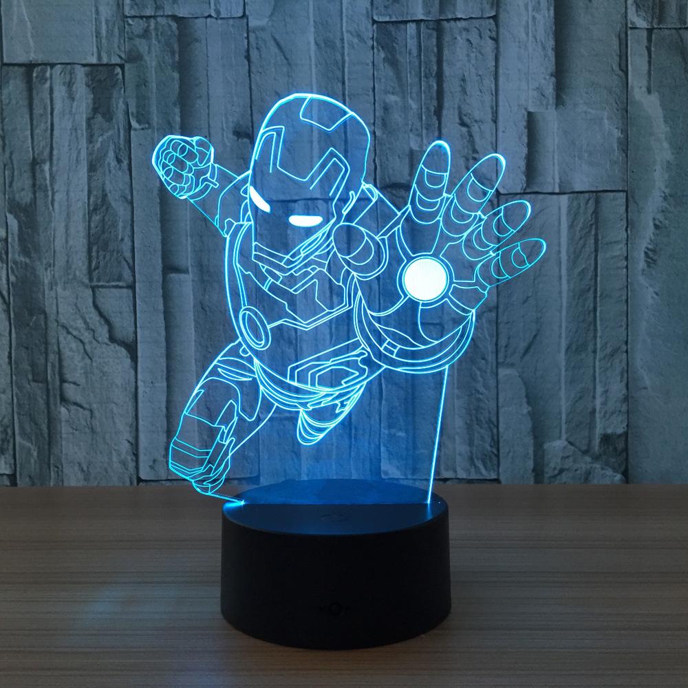 Avengers Ironman Flying 3d Led Lamp
