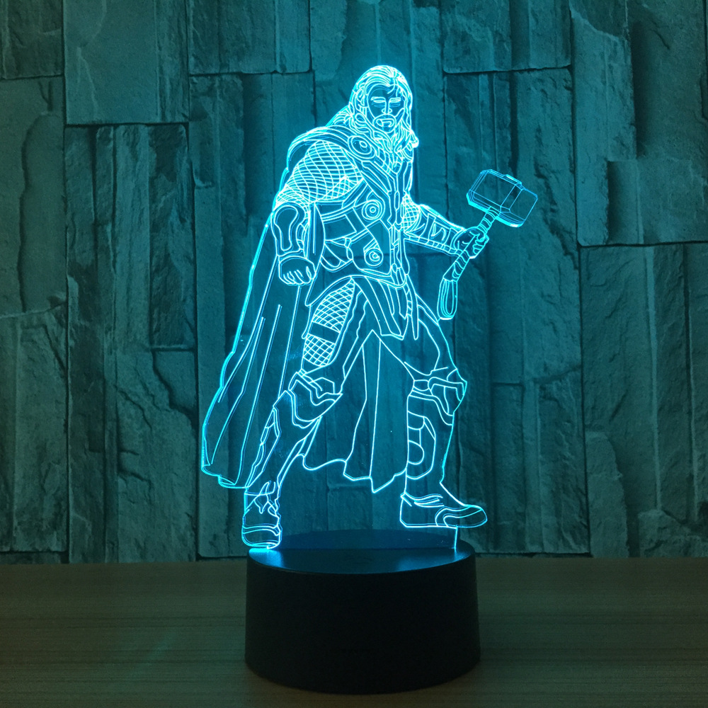 Marvels Avenger Thor 3d Led Lamp