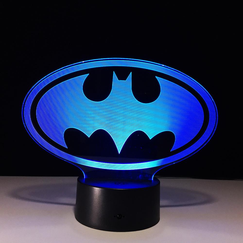 dc comic�s batman bat signal 3d led lamp