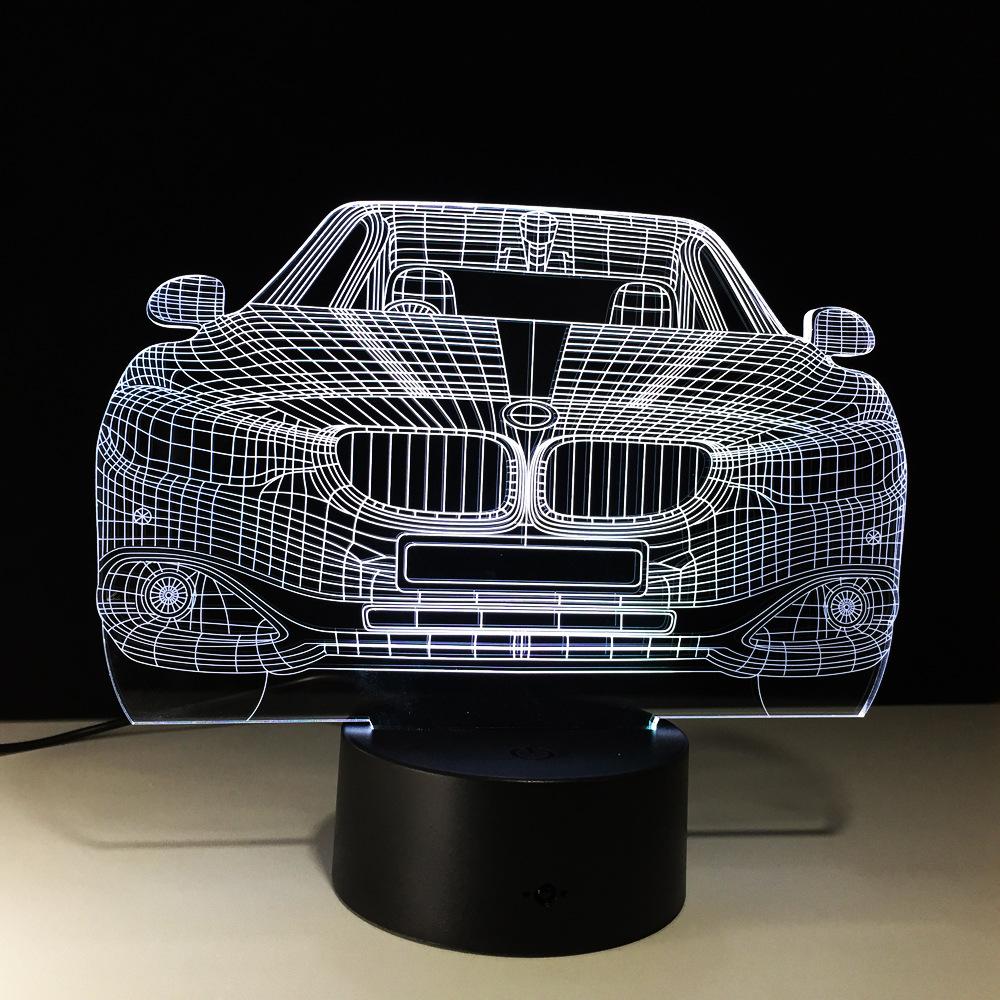 bmw luxury car 3d led lamp. Black Bedroom Furniture Sets. Home Design Ideas
