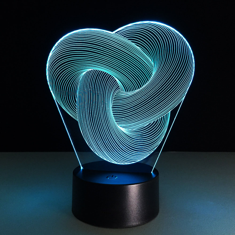 Illusion 10 Tight Rings 3d Led Lamp