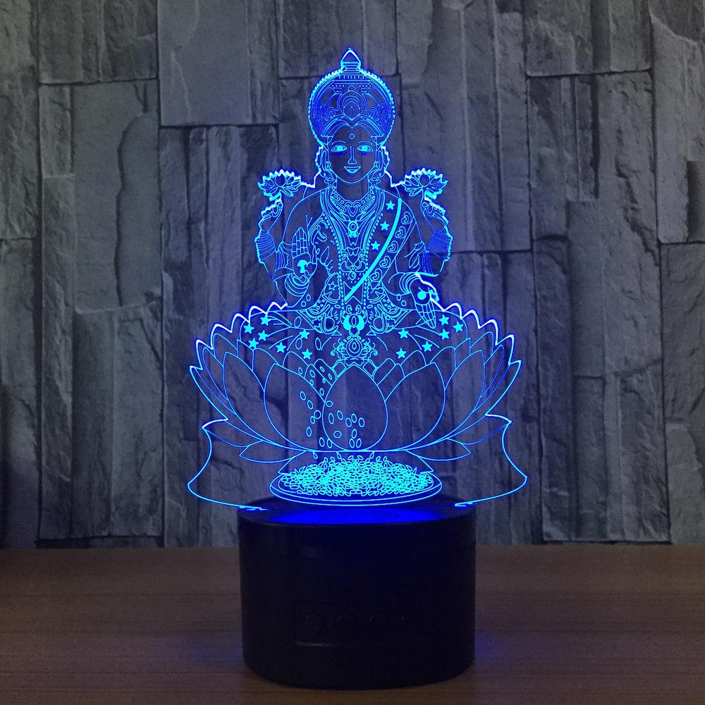 Lotus Flower God 3D LED Lamp