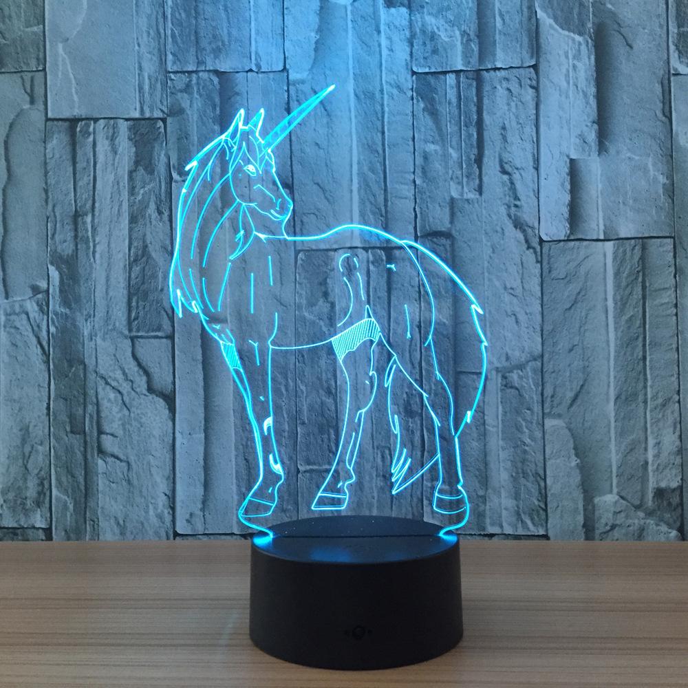 Unicorn 3d Led Lamp