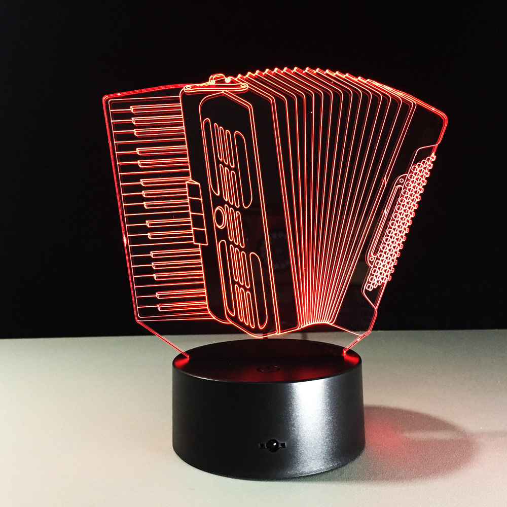 Musical Instrument Accordion 3d LED Lamp